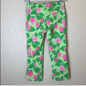 Lilly Pulitzer Pink and Green Capri Croppe…